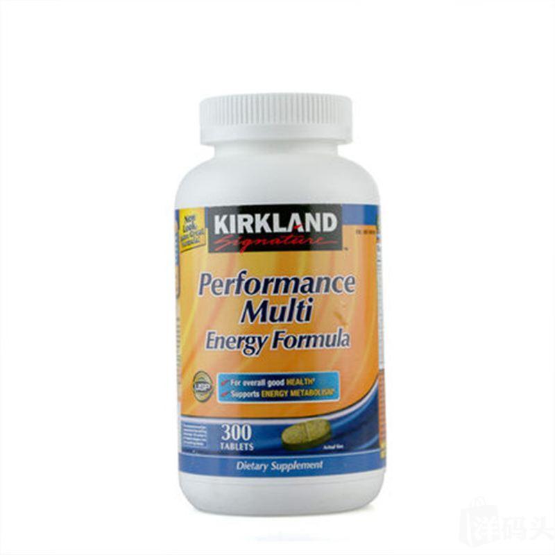 美国Kirkland柯兰成人高效复合维生素矿物质300粒+添加人参叶黄素