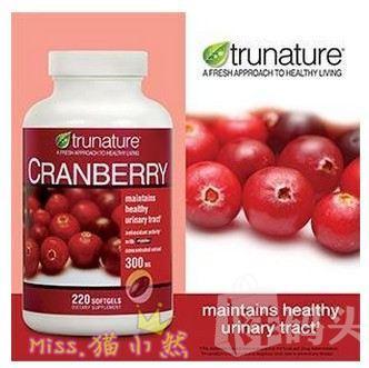 TruNature 蔓越莓精华 抗菌消炎/维护泌尿系统220粒