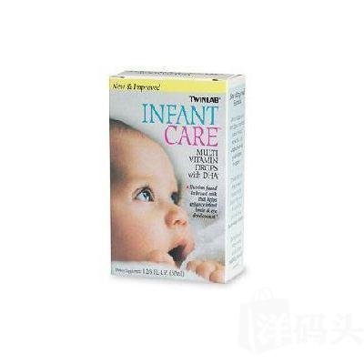 美国Twinlab婴儿10种多种维生素DHA滴剂 50ml