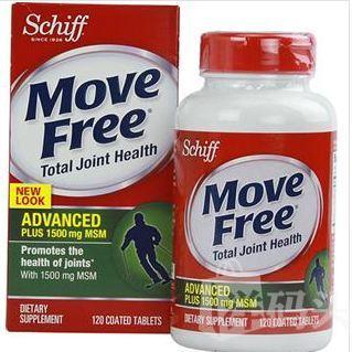 【美国直邮】Schiff move free advanced强效维骨力 绿瓶 添加MSM
