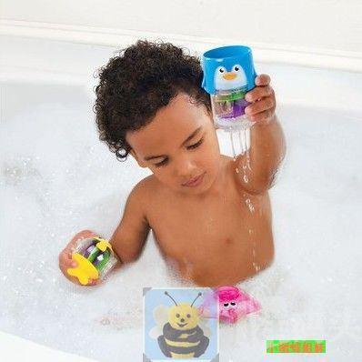 美国Munchkin/麦肯奇婴儿小企鹅洗澡玩具 协调能力