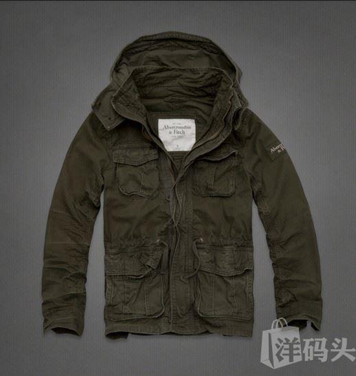 美国代购Abercrombie&Fitch AF男工装外套GREEN MOUNTAIN PARKER