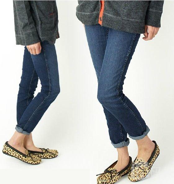 美国 直邮正品 Minnetonka唐卡 2013新款 全豹纹 豆豆单鞋