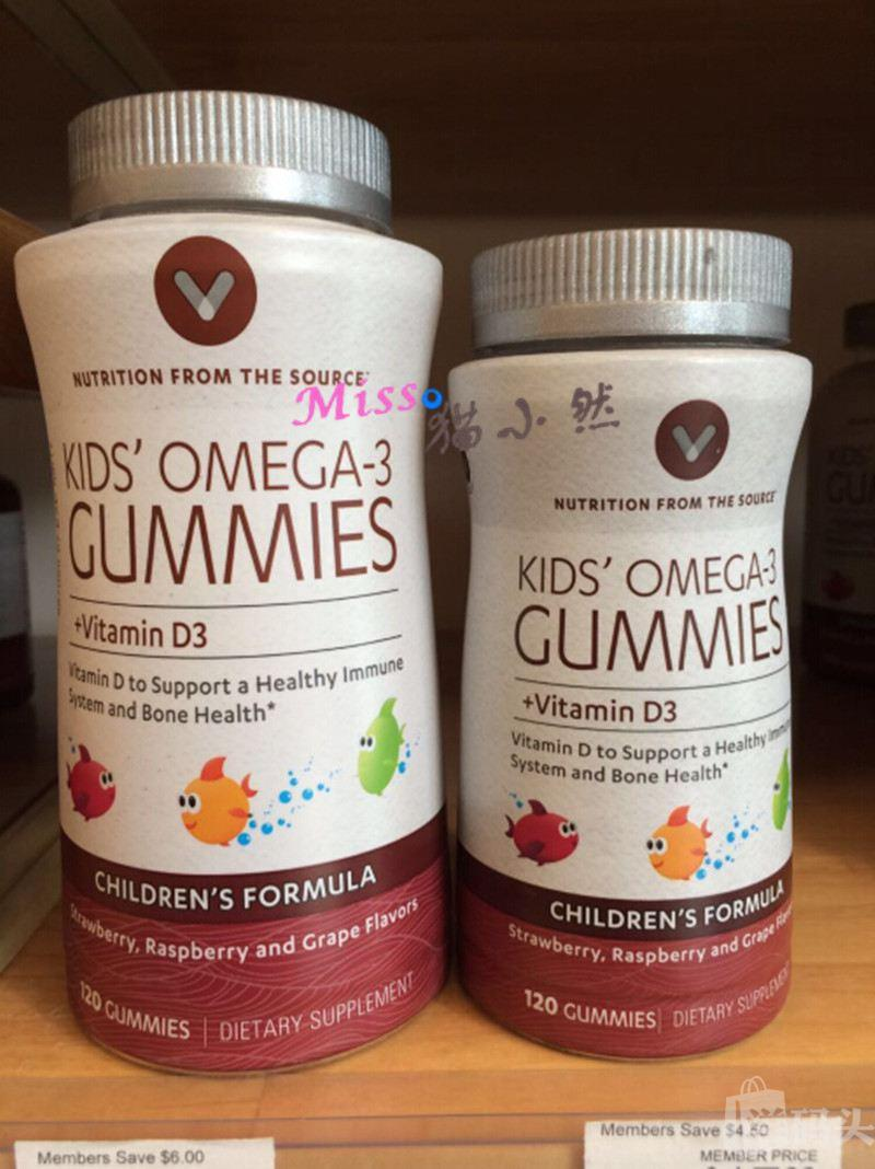 最新包装 Vitamin World 儿童鱼油DHA含Omega-3咀嚼软糖 120粒