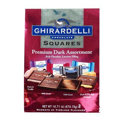 美国直邮Ghirardelli/吉尔德利 3种黑巧克力 混合装 603.7g