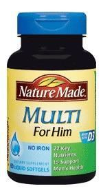 Nature Made multi for him18-50岁男性综合维生素*60粒