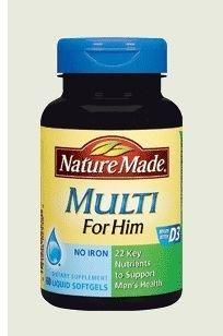 (ABC全球购) Nature Made 18-50岁男性综合维生素*60粒