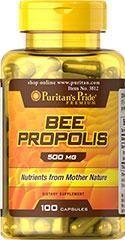 5瓶 美国蜂胶Puritan's Pride Bee Propolis 500mg100 粒
