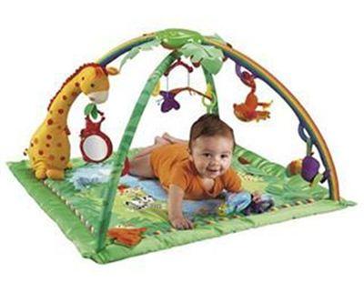 美国直邮Fisher-Price费雪热带雨林婴幼儿爬行垫游戏毯健身垫