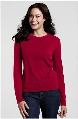 Land's End女式圆领羊绒衫3色