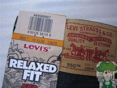 Levis李维斯550男孩牛仔裤