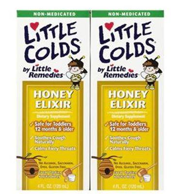 美国little Colds 蜂蜜止咳止喉痛糖浆 天然顺势 1岁以上