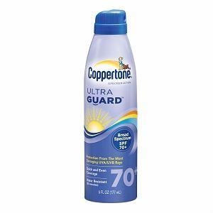 Coppertone水宝宝清爽透气防晒喷雾SPF70 177ml 正品防水浮潜