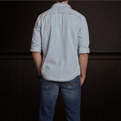 美国代购AF副牌HCO海鸥男式工装牛仔衬衫VICTORIA BEACH DENIM