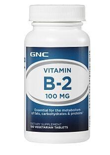 GNC维生素B2核黄素100mg VB2 口角炎唇炎 100粒