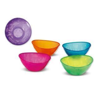 任意2件包邮 munchkin不含BPA彩色小船碗可微波5只装