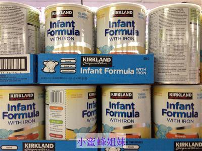 (全新包装) Kirkland 可兰1段一段婴儿奶粉 含DHA/ARA 1.02kg/罐