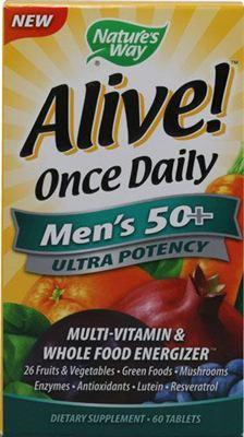 满200包直邮Nature's Way Alive男性复合维生素天然果蔬 50岁以上
