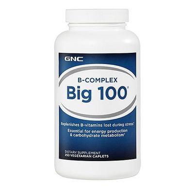GNC Big100复合维生素B族片VB族群 补充能量抗疲劳 250粒 2瓶包邮