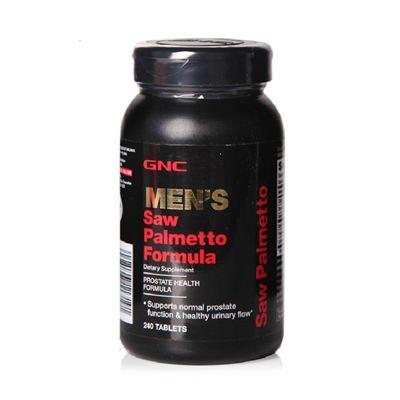 美国直邮 GNC男士锯棕榈片 美洲蒲葵配方500mg 240粒 前列腺保健