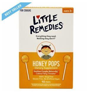 最新包装 美国Little Colds天然顺势蜂蜜水果味止喉痛止咳棒棒糖 10支