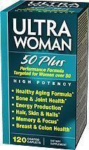 Vitamin World 老人女士 50以上 综合维生素和矿物质 120粒