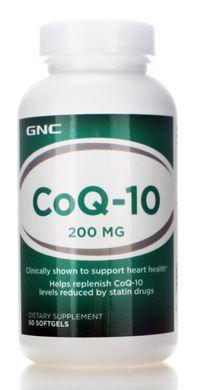 gnc 健安喜 辅酶Q10 COQ10软胶囊 200mg 60粒 护心脏