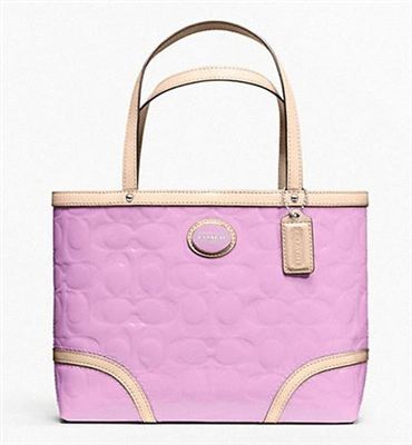 Coach漆皮包PEYTON EMBOSSED PATENT TOP HANDLE TOTE F48166